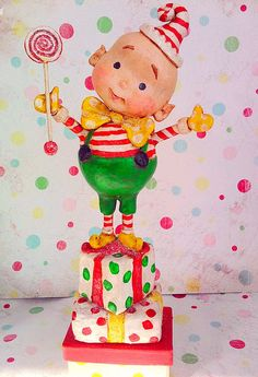 *PAPER CLAY ~ The Elf Himself- For Viv's Elf Swap! by thepolkadotpixie, via Flickr