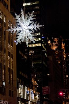 Christmas Snowflake at 57th Street and %th Avenue,  New York City