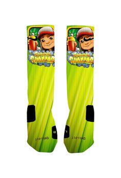 Custom Subway Surfer Socks Custom Nike Elite by NikkisNameGifts, $25.00