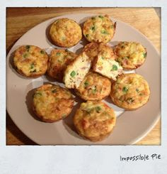 Mini Impossilbe quiches
