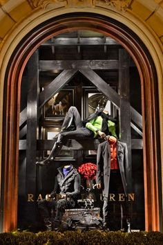 Explore the vibrant holiday windows at our St. Germain store