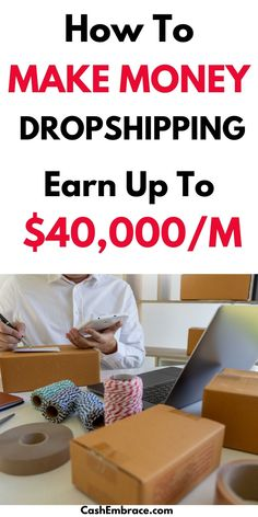 How to make money dropshipping: see how to start a successful dropshipping business that will bring you an online income of no less than $40,000/month.  Dropshipping tips and ideas for beginners that will show you the right way to make money online with your own online store.#makemoneydropshipping#dropshippingtipsandideas#howtostartadropshippingbusiness Make Money From Home, Way To Make Money, Make Money Online, Online Income, Online Jobs, Ecommerce Jobs, Dropshipping Suppliers, Drop Shipping Business, Extra Money