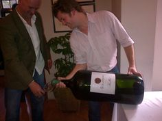 The biggest bottle at the #BigBottleFestival is the Steenberg semillon. A Goliath, equivalent to 36 bottles!