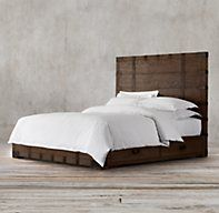 Heirloom Silver-Chest Platform Storage Bed Without Footboard