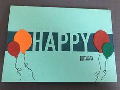 Sirpa van der Heijden maakte deze feestelijke kaart met de oktober kleurencombinatie. Ze gebruikte de Happy dies en kleedde deze verder aan met ballonnen in de overige kleuren van de combinatie. Een prachtige CAS-kaart (Clean and Simple) waar ze iemand heel blij mee gaat maken. #happydies #prullekekleurencombinatie #prulleke