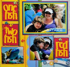 Universal Studios - Dr. Suess One Fish Two Fish LEFT SIDE - Scrapbook.com