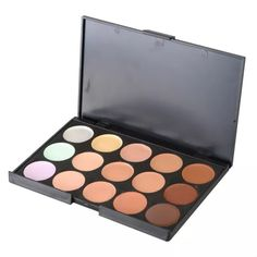 Concealer contour palette New 15 color Camouflage Concealer Palette                                                                               15 colors Camouflage and Concealer Palette has been created for us using the most High quality ingredients with silky shine color, can last for all day long!  Perfect for Professional Salon or Home use!  Case Color: Black  1 x 15 Color Professional Camouflage Concealer                                                                NO BRUSH OR…
