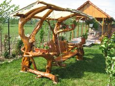 Rustic Log Swings | The Owner-Builder Network