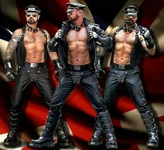 The Leather gang is here. Biker Leather, Leather Men, Leather Boots, Sexy Gay Men, Sexy Guys, Cigar Men, Beefy Men, Hot Hunks, Good Looking Men