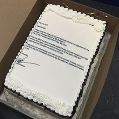 This Guy Tendered His Resignation In The Sweetest Way Possible -- With A Cake - http://www.77evenbusiness.com/this-guy-tendered-his-resignation-in-the-sweetest-way-possible-with-a-cake/
