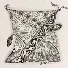 #Zentangle, #tangle, #drawing, #meditation