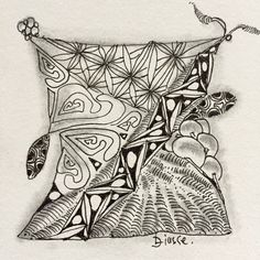 #Zentangle, #tangle, #drawing, #meditation