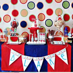 Robot theme birthday party treat table