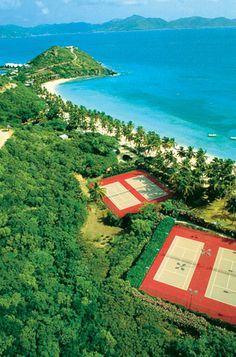Tennis Courts at Peter Island Resort