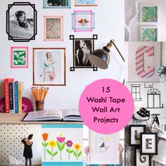 '15 unique washi tape wall art projects...!' (via Washi Tape Crafts)