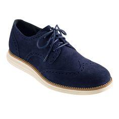 huge discount 2cae6 1af8b Cole Haan LunarGrand Wingtip in Navy Suede Cole Haan Oxfords, Wingtip  Shoes, Brogues,