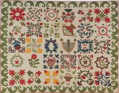 Album Signature Quilt, 1860. Made for Reverend Fred Winans. New York.