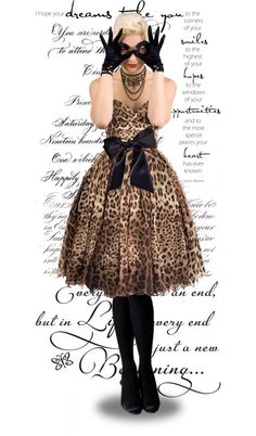 A cheetah prom or grad dress?! This is wonderful! A great black satin sash is perfect for accentuating those curves of yours.