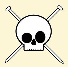 Skull & knitting needles
