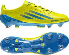 finest selection efb95 6cbc5 adidas - adizero - lab-lime-bright-blue - they are rugby boots but man, I  like these.