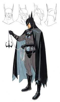 Batman Year One concept art by David Williams and [ Unused ]