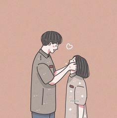 Cute Couple Drawings, Cute Couple Cartoon, Cute Couple Art, Cute Love Cartoons, Cute Cartoon Wallpapers, Cartoon Images, Sweet Couple, Arte Alien, Cute Couple Wallpaper