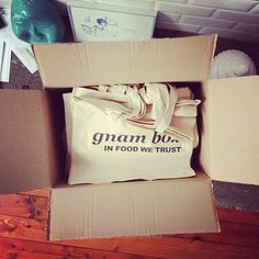THE TOTE BAGS ARE HERE  the gnam box tote bags are on sale contact us gnam@gnambox.com