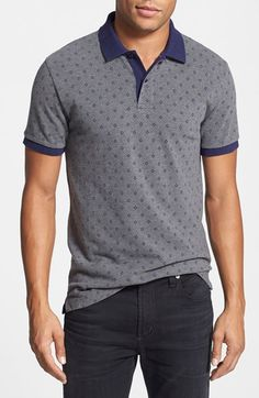 Men's Gant Print Cotton Pique Polo