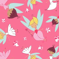 Camelot fabrics, FAIRYVILLE by Heather Rosas, Fairies on Pink, fat quarter by MyHeartandSew on Etsy https://www.etsy.com/listing/199330439/camelot-fabrics-fairyville-by-heather