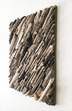 Driftwood Wall Art, Driftwood Projects, Wooden Wall Art, Diy Wall Art, Diy Wall Decor, Driftwood Ideas, Stick Art, Branch Decor, Cart