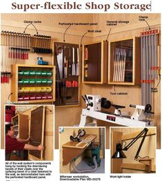 31-DP-00280 - Super Flexible Workshop Storage Downloadable Woodworking Plan PDF #rocklerdreamworkshop