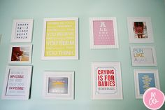 Love the whole nursery- especially love this wall.