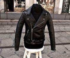 Giubbotto giacca chiodo milano pelle morbida 44 46