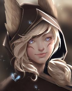 Fan art portrait of Xayah from League of Legends! Lol League Of Legends, League Of Legends Charaktere, Dnd Characters, Fantasy Characters, Female Characters, Character Portraits, Character Art, Gurren Lagann, League Of Legends Personajes