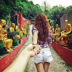 30. Follow Me To #10 000 buddahs monastery, Hong Kong 6 Aug 2012 (the 30th pic of the photo series by Russian Photographer, Murad Osmann)