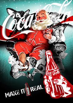 Old, Coca-Cola Christmas Santa ad. Brings back warm, childhood memories!