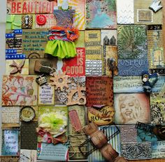 My 2nd paper quilt with handmade embellishments, quite like it :)