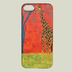 Fun Indie Art from BoomBoomPrints.com! https://www.boomboomprints.com/Product/pabloontaneda/Giraffe_Rothschild/iPhone_Cases/iPhone_5_Slim_Case/