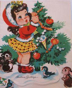 1950's Christmas Card   Christmas Greetings