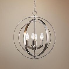 "Equinox Collection Silver 16"" Wide Pendant Light - #R7947 