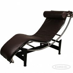 Le Corbusier Style LC4 Chaise, Choco Brown Premium Leather |