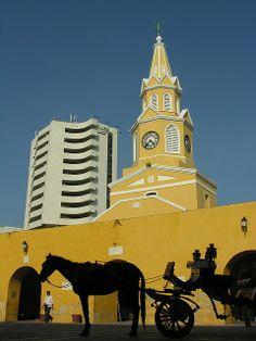 Torre del reloj, Cartagena, Bolívar.