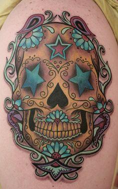 Blue Star Sugar Skull