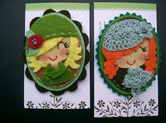 Muac! Cute Crafts, Felt Crafts, Fabric Crafts, Diy Crafts, Stone Art Painting, Felt Sheets, Sewing Crafts, Sewing Projects, Felt Brooch