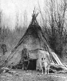One of the earliest photos of a Native American with a wolf. Unlike the myths about wolves created by settlers, Indians maintained a close and respectful relationship with wolves.