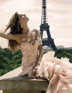 gorgeous blush wedding dress #wedding #dress #blushpink