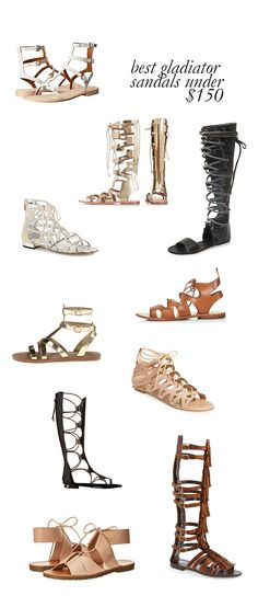 gladiator sandals under $150