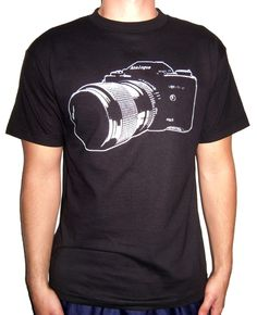 Vintage SLR Camera Shirt Ring Spun Tee Free Shipping from i heart analogue