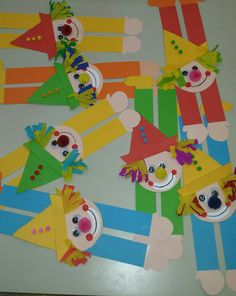 Clown Crafts, Carnival Crafts, Projects For Kids, Art Projects, Crafts For Kids, Student Crafts, Sorting Activities, Soft Towels, Circus Theme
