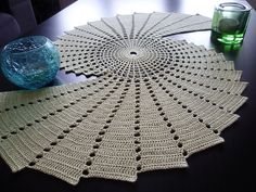 Crochet and math!! Fractal, crochet pattern by Essi Varis ~ please someone make me this! I want it in a crimson red color :D
